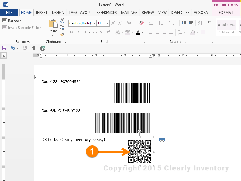 How To Print Barcodes With Excel And Word Clearly Inventory